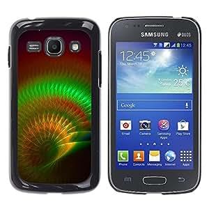 TopCaseStore / la caja del caucho duro de la cubierta de protección de la piel - Green Psychedelic Maroon - Samsung Galaxy Ace 3 GT-S7270 GT-S7275 GT-S7272