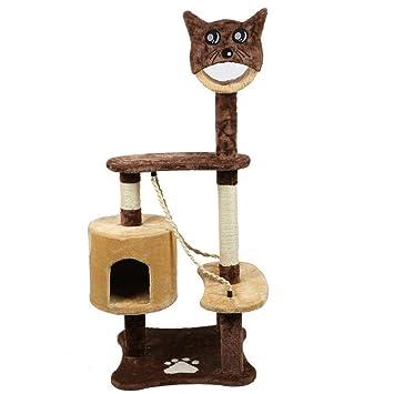 Dixinla Árbol Gatos Madera Suministros Gato Juguetes suben rectificado Patas protegen Muebles Mascotas 65 * 60