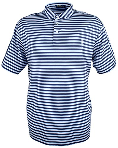 RALPH LAUREN Mens Striped Rugby Polo Shirt obsblumu 4XLT - Big & Tall (Ralph Lauren Striped Rugby Shirt)