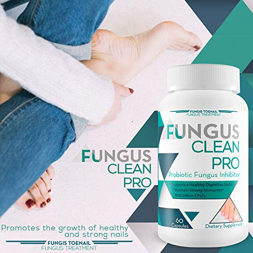 Fungus Clean Pro - Probiotic Fungus Inhibitor - Fight Off Fungus from The Inside Out with This Powerful Anti-fungal probiotic Blend - by Fungis Toenail Fungus Treatment - Protect Your Body from Fungi