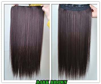 Amazon 8 color 23 straight full head clip in hair 8 color 23quot straight full head clip in hair extensions wwii101 dark pmusecretfo Image collections