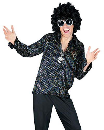 Funny Fashions Mens Retro Boogie Night Shirt Theme Party Fancy Costume, Large (46-48) (Boogie Man Costume)