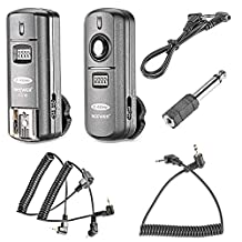 Neewer FC-16 Multi-Channel 2.4GHz 3-IN-1 Wireless Flash/Studio Flash Trigger with Remote Shutter for Canon Rebel T3 XS T4i T3i T2i T1i Xsi EOS 1100D 1000D 700D 650D 600D 60D 550D 500D 450D 100D, EOS 1D Mark IV 1D Mark III 5D Mark III 5D Mark II 50D 40D 30D 20D 7D 6D 5D