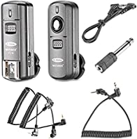Neewer FC-16 Multi-Channel 2.4GHz 3-IN-1 Wireless Flash/Studio Flash Trigger with Remote Shutter for Canon Rebel T3 XS...