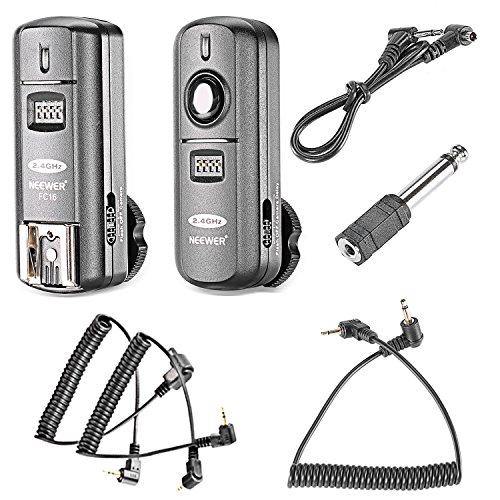Neewer FC-16 Multi-Channel 2.4GHz 3-IN-1 Wireless Flash/Studio Flash Trigger with Remote Shutter for Canon Rebel T3 XS T4i T3i T2i T1i Xsi EOS 1100D 1000D 700D 650D 600D 60D 550D 500D 450D 100D, EOS 1D Mark IV 1D Mark III 5D Mark III 5D Mark II 50D 40D 30D 20D 7D 6D 5D (Best Wireless Flash Trigger For Canon)