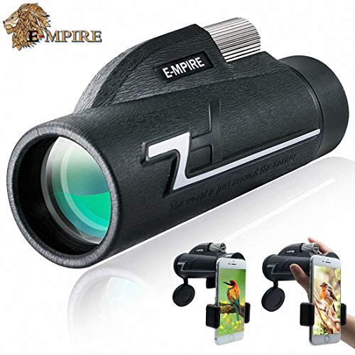 E-MPIRE Monocular Telescope High Power 16x50 Monocular Scope with Phone Clip and Silver Tripod for Kids Adults Bird Watching Travelling Hunting Camping Hiking Outdoor Sports