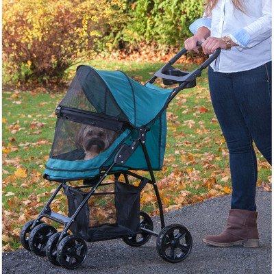 Happy Trails Lite NO-ZIP Pet Stroller Color: Pine Green