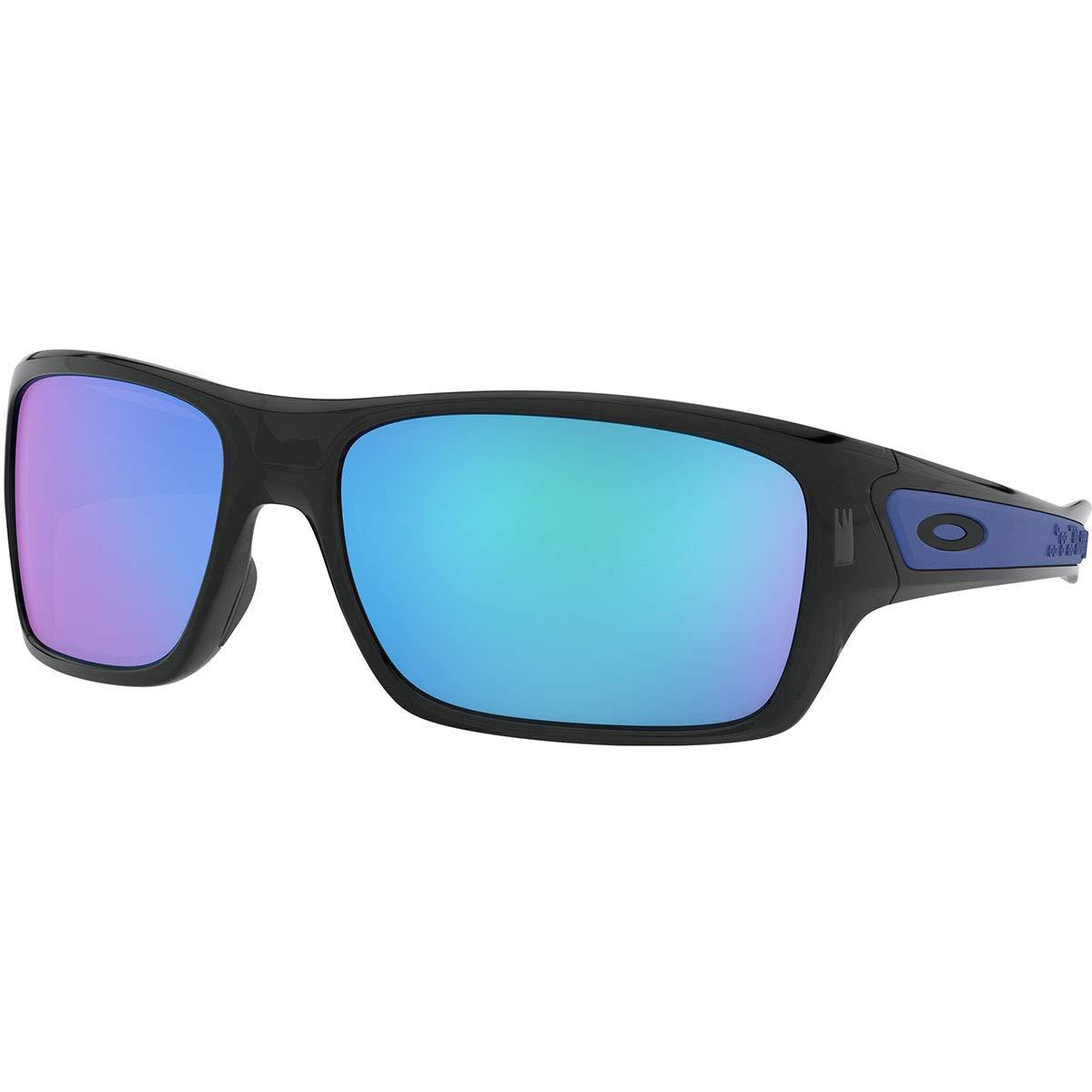 Oakley Men's OO9263 Turbine Rectangular Sunglasses, Black Ink/Sapphire Iridium, 65 mm by Oakley