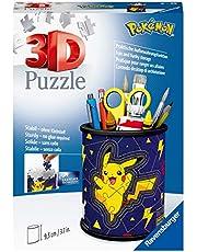Ravensburger 3D Puzzle 11257 - Utensilo Pokémon Pikachu - 54 Teile - Stiftehalter für Pokémon Fans ab 6 Jahren, Schreibtisch-Organizer für Kinder: Erlebe Puzzeln in der 3. Dimension