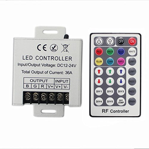 - JOYLIT 28 Keys LED RF RGB Remote Controler For RGB SMD 3528 5050 LED Strip LED Lights Controller Input DC12V 30A