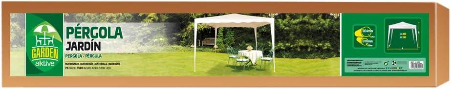 Aktive 61023 - Cenador crema 300 x 300 x 240 Garden
