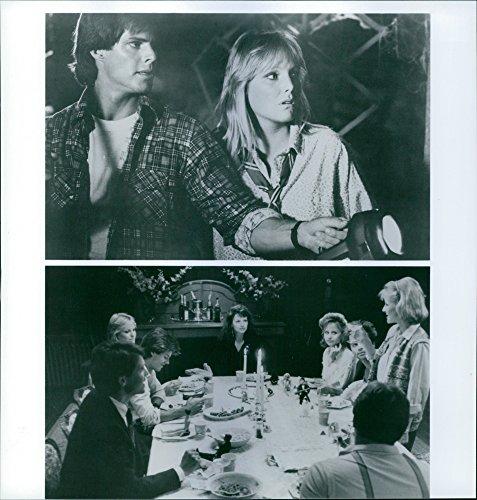 "Harvest photo of Jay Baker, Deborah Goodrich, Ken Olandt, Amy Steel (actress), Deborah Foreman, Clayton Rohner and Leah Pinsent in the scenes of the big, ""April Fool39;s Day""."