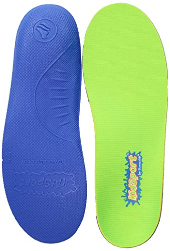Powerstep Shoe's KidSport Insole, green/blue, Youth Size 1 (Best Cushioned Insoles For Running)