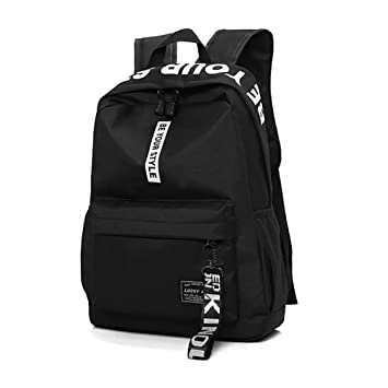 77fcaa6b2c2e8 HENZIN Schulrucksack Teenager Mädchen Schultaschen Canvas Schulrucksäcke  Wasserdichte Große Schulrucksack Schultasche Backpack Daypacks für 12-