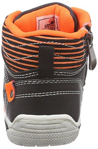 TMX 5126un elegante niños alta de entrenamiento en negro/naranja neón Talla: 25/36 Multicolour - Schwarz/ Neon Orange
