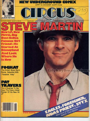 Circus Magazine STEVE MARTIN Judas Priest FOGHAT Lou Gramm FOREIGNER Underground Comix PAT TRAVERS November 13, 1979 C]()
