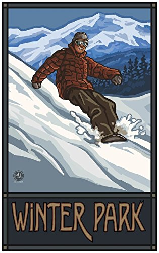 Winter Park Colorado Snowboarder Edge Travel Art Print Poste