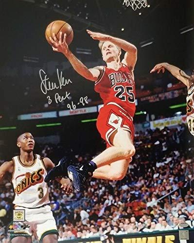 d7c181810c12 Steve Kerr quot 3 Peat 96-98 quot  Signed Bulls 16x20 Photo Autograph  Schwartz Sports