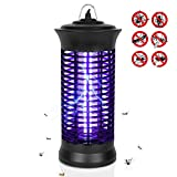 Eocol Mosquito Killer Lamp, Bug Zapper Flying Insect Catcher Killer Pest Repeller Light Lamp Trap Hook Indoor Outdoor - Black Upgrade