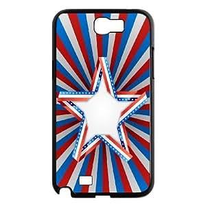 case Of American Flag Customized Bumper Plastic Hard Case For Samsung Galaxy Note 2 N7100 wangjiang maoyi