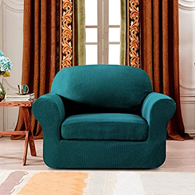 Subrtex 2-Piece Spandex Stretch Sofa Slipcover