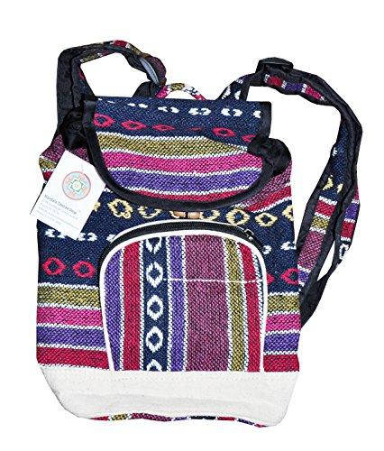 Brick-Red-Handmade-Large-Hemp-Backpack-Laptop-Backpack-Bohemia-Backpack