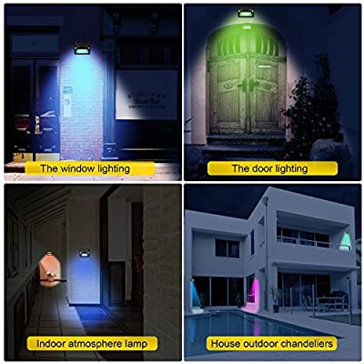 YSD Sensor Solar Light, 7-Color Bright Night Light 180° Sensing Range Motion Wireless Waterproof Security Wall Light Outdoor Garden, Yard, Fence, Driveway, Shed, Garage, Christmas Decoration Lights