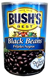 Bush\'s Best BLACK BEANS 15oz (8 Pack)