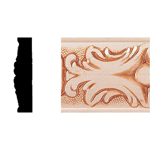 House of Fara 1/2 in. x 2 in. x 8 ft. Hardwood Embossed Batten Moulding