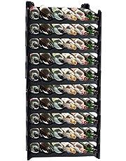 ARTECSIS Wijnrek Stapelbaar Kunststof Voor 12-72 Flessen, Stabiel Licht Flessenrek Voor Kelder, Gastronomie En Opslagruimte, Modulair Uitbreidbaar Fles En Wijnopslag