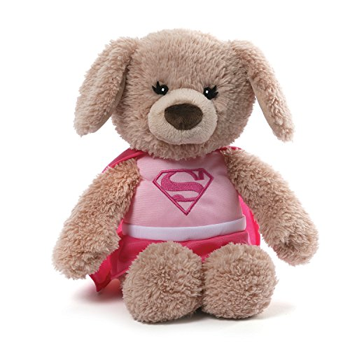 GUND DC Comics Supergirl Yvette Dog Stuffed Animal Plush, Pink, 12