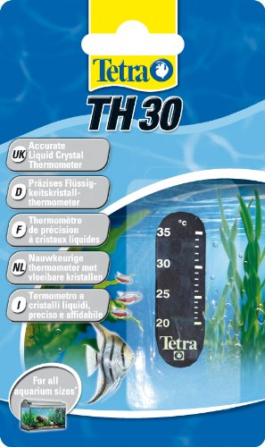 Tetra TH 30 Aquarienthermometer (präzises Flüssigkeitsthermometer zur Befestigung außen auf der Aquarienscheibe)