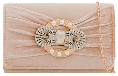 Nude Velvet Velvet Bag Girly Velvet Broche Clutch HandBags HandBags Nude Girly HandBags Broche Bag Broche Girly Clutch wB0qaxAO