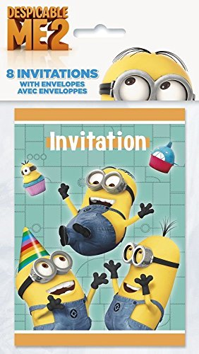Despicable Me Invitations, 8ct -