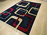 New Modern Rugs For Bedroom 5×8 Red Area Rugs Rugs For Living Room 5×7 Navy Red Beige Greenish Contemporary Rugs 5 by 7 Rugs for Kitchen Dining Room Rugs For Sale