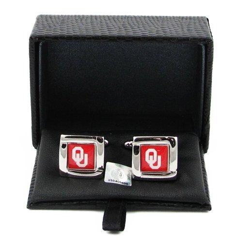 Oklahoma Sooners Team Logo NCAA Square Cufflinks Gift Box Set