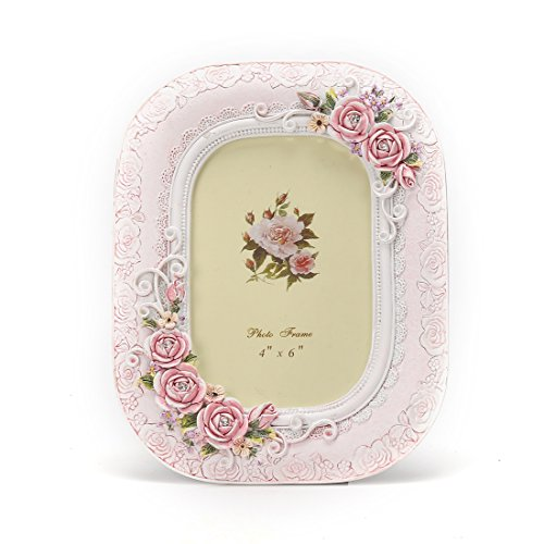 Frame Floral Picture (4x6 Inches Victorian Floral Decorated Picture Frame)