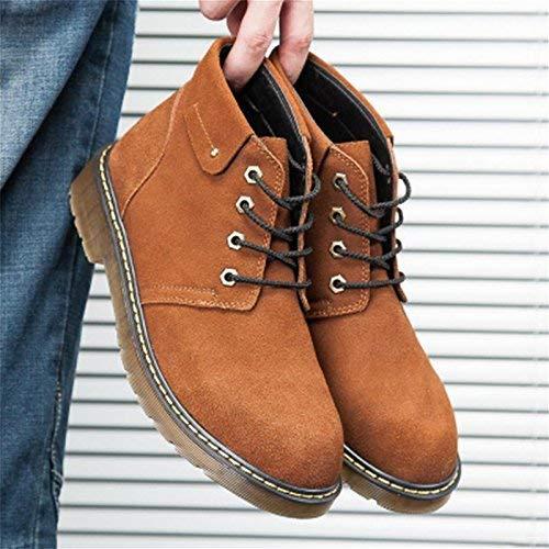 Hohe Winter Baumwolle Baumwolle Baumwolle High-Heels warmen Plüsch gepolstert Wild Gezeiten Seite Reißverschluss beiläufige Stiefel (Farbe   41 Größe   Braun) 762274