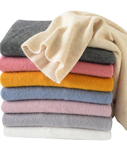 (LONGMING Women's Long Sleeve Sweater (Small, Lake Blue))