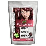 2 Packs of Burgundy Red Henna Hair & Beard Color/Dye 100 Grams - Chemicals Free Hair Color - The Henna Guys
