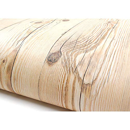 (Peel and Stick PVC Instant Panel Wood Decorative Self-Adhesive Film Countertop Backsplash Brown Beige (22345 : 1.64 Feet X 9.84 Feet))