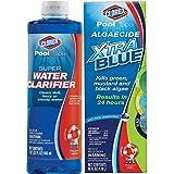 #4: CLOROX Pool&Spa Super Water Clarifier, 1-Quart 58032CLX, Bundle with Pool&Spa Algaecide Xtra Blue, 40-Ounce 43040CLX