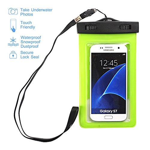 Waterproof Case,Asstar Universal Waterproof Case for Apple iPhone 6S, 6, 6S Plus, 5S, Galaxy S7, S6 Note 5, HTC, LG, Motorola up to 5.5 inch and Card, Passport, Wallet (Mint Green)