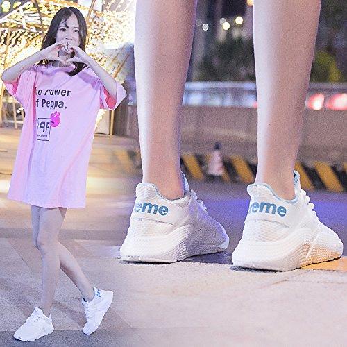 Wild Traspirante Harajuku Shoes Donna Summer Novità Da bianca Moda Running Sportive Scarpe QQWWEERRTT Casual aqv6w0x