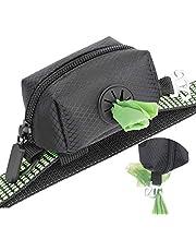 MalsiPree Hond Poo Bag Holder Poo Bags Dispenser met gebruikte afvalzak Carrier - Verbeterde elastische riem & metalen haak Past sterk op elke hondenriem