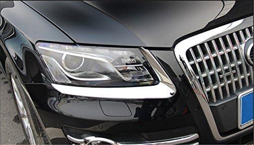 Rifinitura della copertura della lampada della lampada del faro per auto in ABS cromato confezione da 2