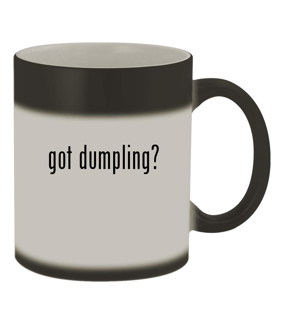 got dumpling? - 11oz Color Changing Sturdy Ceramic Coffee Cup Mug, Matte Black