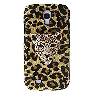 LZX Fashion Design Leopard Pattern Hard Case with Rhinestone for Samsung Galaxy S4 I9500