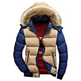 Ifantasy Men's Winter Snow Puffer Coats Fur Hooded Thick Cotton-Padded...