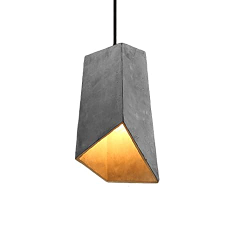 Vintage Pendant L& Motent Modern Simplicity Industrial Cement Hanging Light in Geometric Shape Antique  sc 1 st  Amazon.com & Vintage Pendant Lamp Motent Modern Simplicity Industrial Cement ...